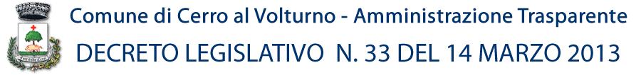 Comune di Cerro al Volturno - Amministrazione Trasparente